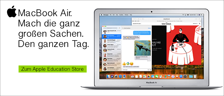 Apple MacBook Air mit Studentenrabatt