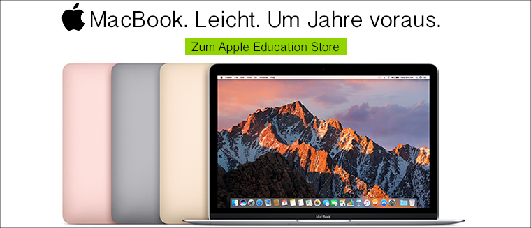 Apple MacBook mit Studentenrabatt